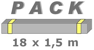 Bordures Galvanisées en PACK de 18 x 1,5 m