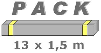 Bordures Galvanisées en PACK de 13 x 1,5 m